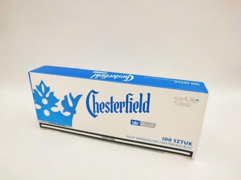 gilzy CHESTERFILED blue niebieskie 100 3,90zł
