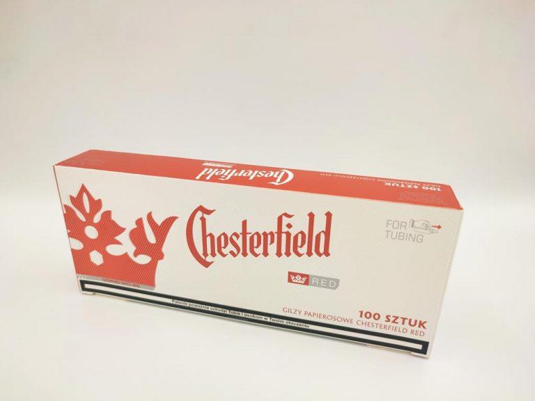 gilzy CHESTERFILED red czerwone 100 3,90zł