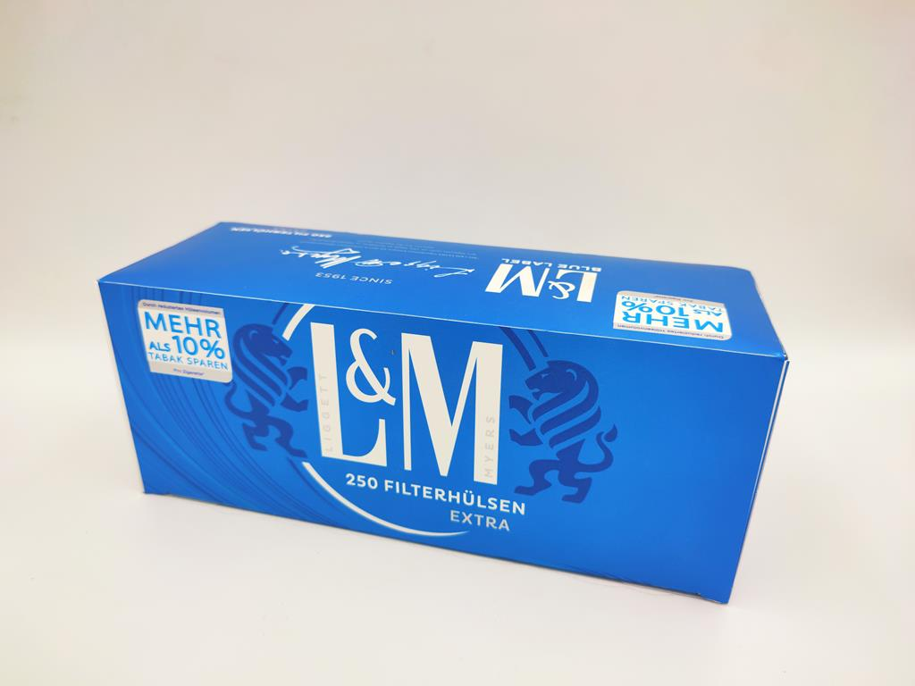 gilzy L&M lm blue long filter niebieskie 250 12,50zł