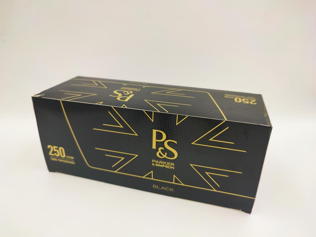 gilzy P&S black czarne 250 7,5zł